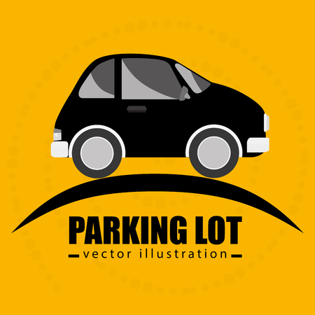 a lot: parking lot symbol notice vector illustration design Illustration