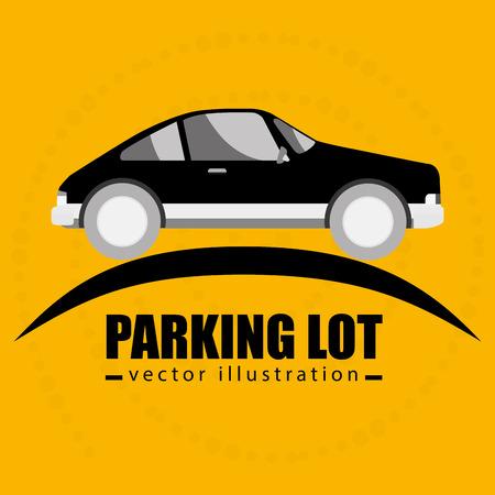 parking lot symbol notice vector illustration design Illustration
