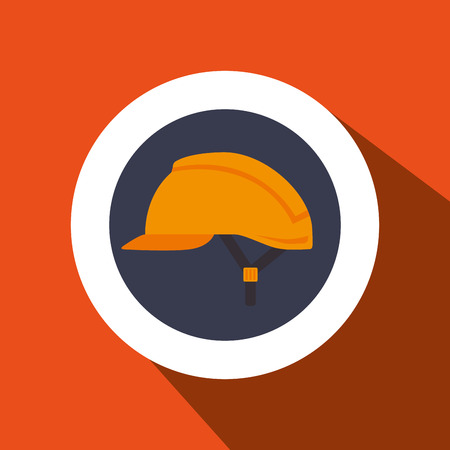 cast: helmet protection industrial icon vector illustration design