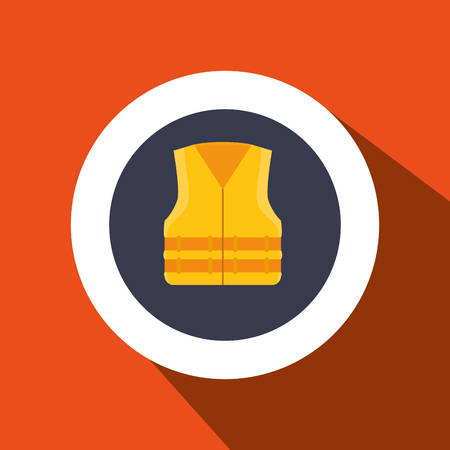 industrail: vest protection industrail icon vector illustration design