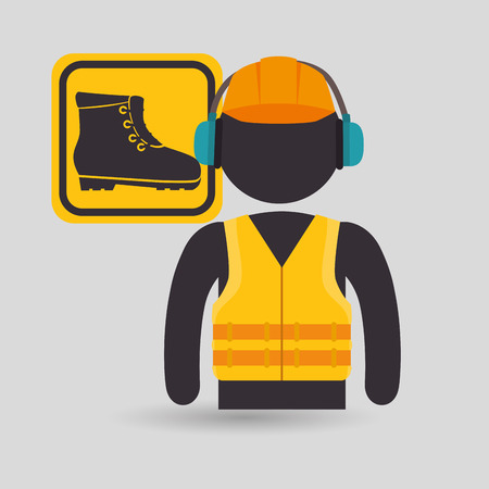 avatar worker protection tool vector illustration design