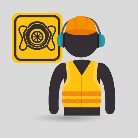 overhaul: avatar worker protection tool vector illustration design