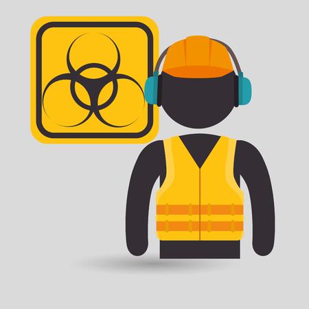 avatar worker protection tool vector illustration design