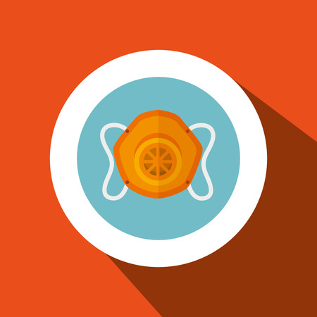 mask gas protection icon vector illustration design