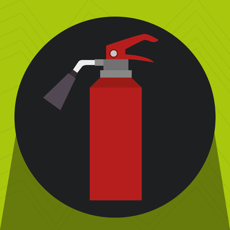 fire extinguisher protection icon vector illustration design Ilustração