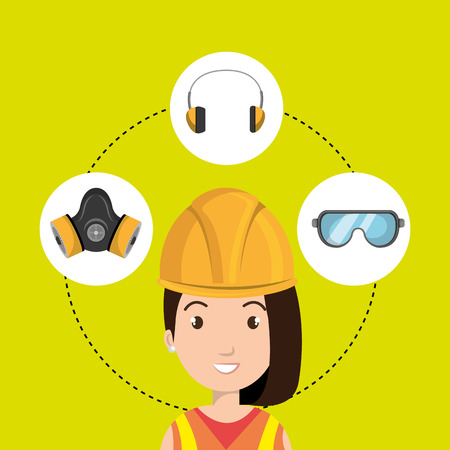 personal protective equipment: worker equipment protection tool vector illustration design