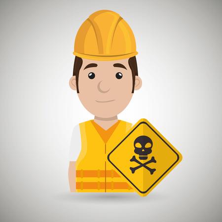 warning vest: worker symbol danger