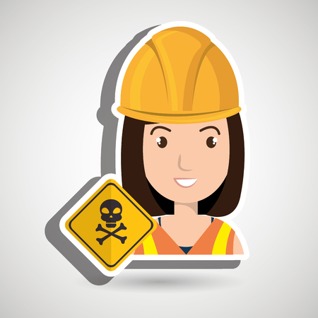 woman worker symbol danger