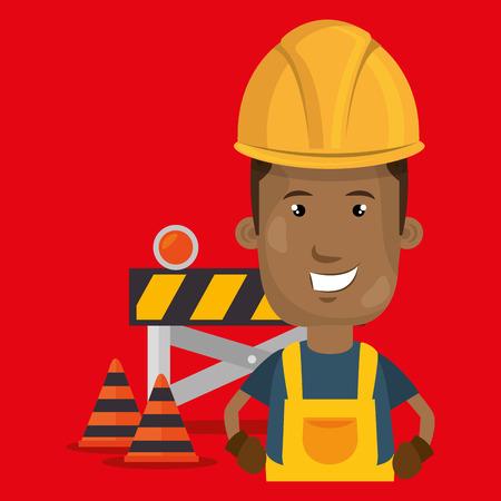 hypertext: under construction worker vector illustration design eps 10 Illustration