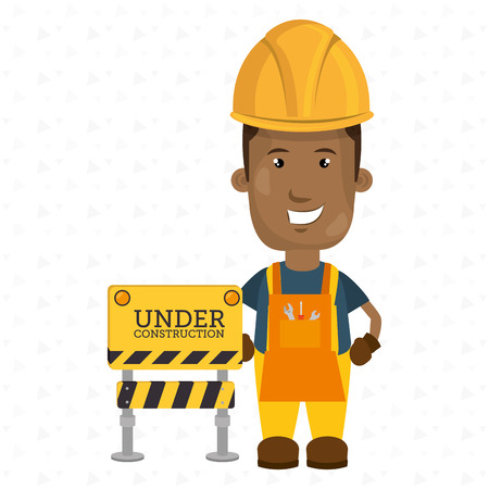 work worker: under construction worker website vector illustration design