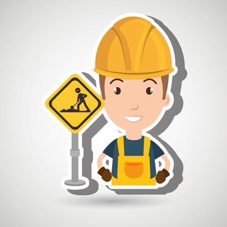 civil construction: man worker construction vector illustration design eps 10