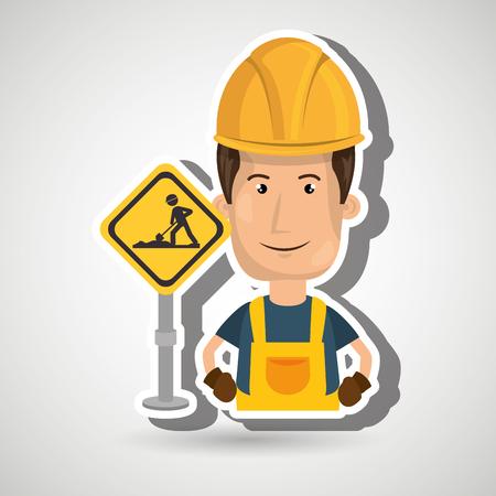 man worker construction vector illustration design eps 10