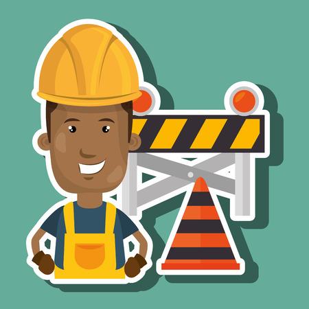 under construction worker vector illustration design eps 10 Illustration