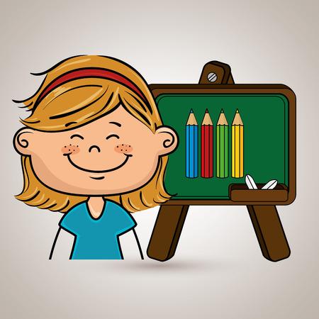 juvenile: student cartoon color vector illustration design