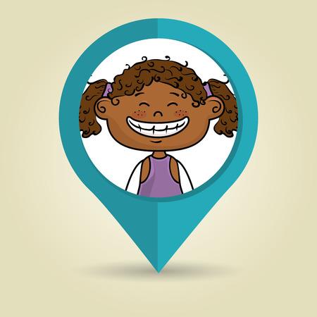 girl child kids icon vector illustration design Illustration