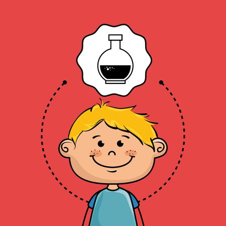 boy cartoon cap icon vector illustration design Illustration