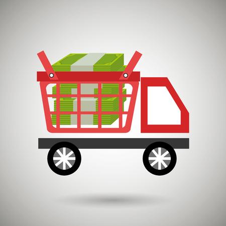 car shop buy online vector illustration Illustration