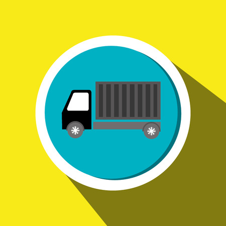 delivery truck: truck cargo delivery goods Illustration
