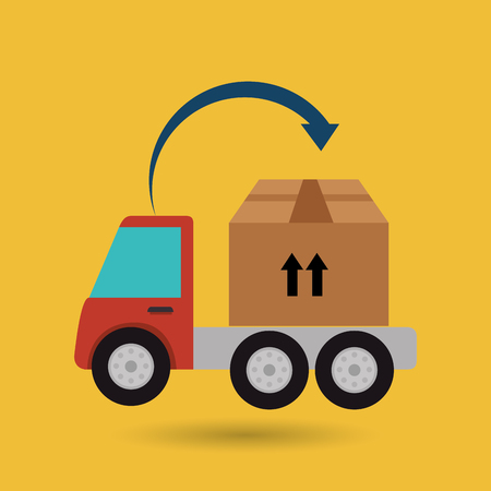 delivery truck: truck delivery shipping cargo