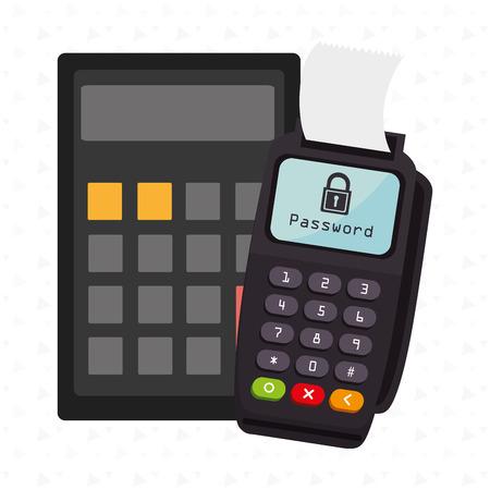 contrase�a: dataphone password money secure Vectores