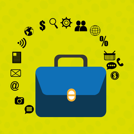suitcase portfolio buy web Illustration