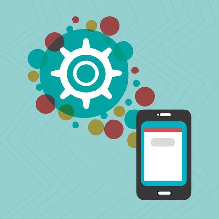 smartphone apps: smartphone group online apps Illustration