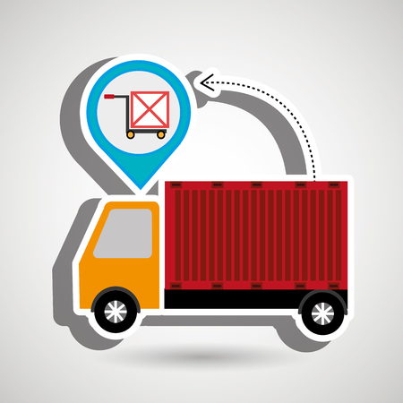 truck delivery cargo pin