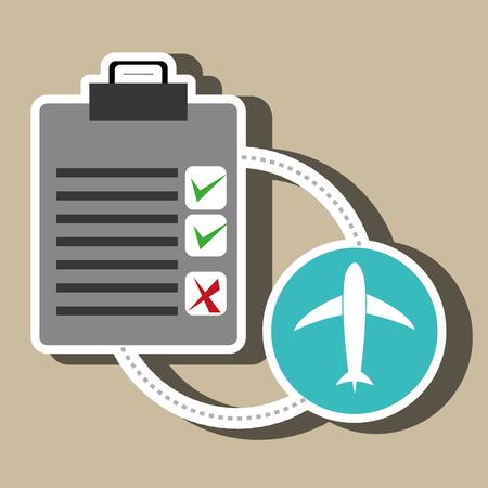 klembord checklist scheepvaart Vector Illustratie