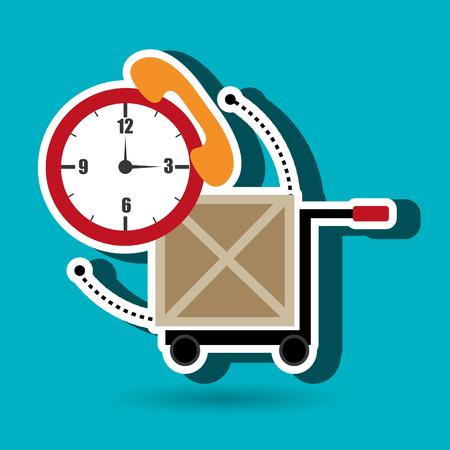 depot: car hand box cargo vector illustration Illustration