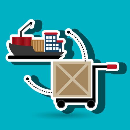 car hand box cargo vector illustration Illustration