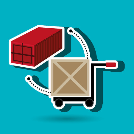 lift and carry: car hand box cargo vector illustration Illustration