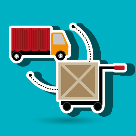 car hand box cargo vector illustration Illustration