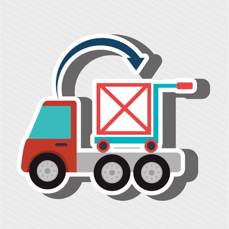 truck delivery shipping cargo vector illustration