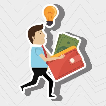 man credit card idea vector illustration