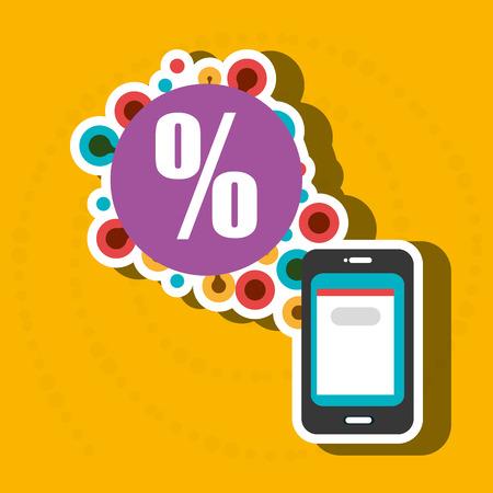 smartphone apps: smartphone group online apps vector illustration
