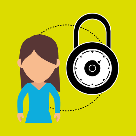 character secure protection vector illustration eps 10 Stock Photo