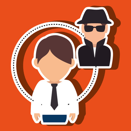 secure: character secure protection vector illustration