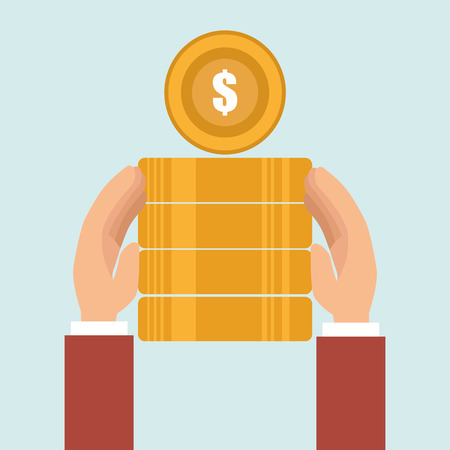pile of money: currency pile money coin vector illustration