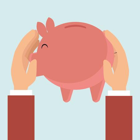 piggy money coin tax vector illustration eps 10