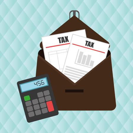 taxed: portfolio tax calculator pay vector illustration