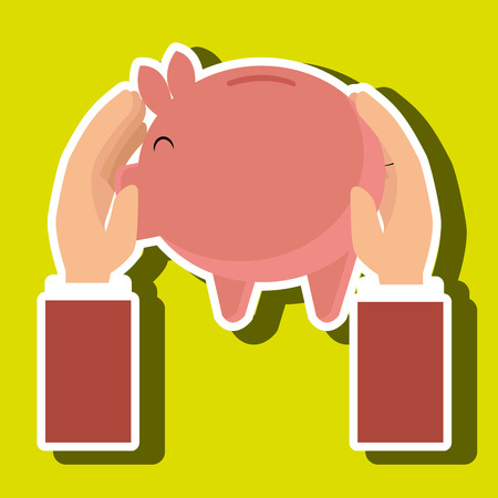 piggy money coin tax vector illustration Illustration