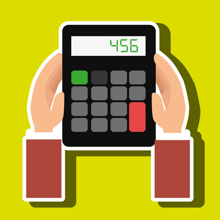 tax accountant: calculator accountant tax money vector illustration