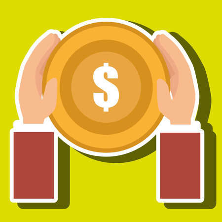 cash money: currency coin money cash tax vector illustration