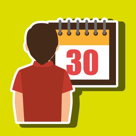 person calendar date tax payment vector illustration Illustration