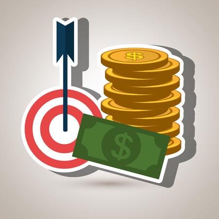 target money cash vector illustration