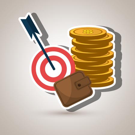 cash money: target money cash vector illustration