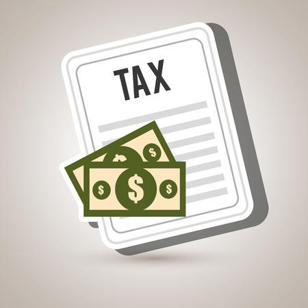 pay bills: taxes money bills pay vector illustration Illustration
