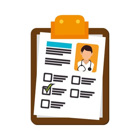 informe médico ilustración marca de verificación diagnóstico médico vector de la foto