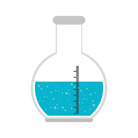 florence flask liquid chemical chemistry bottle laboratory scientific object vector illustration Illustration