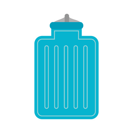 hot cold: water bag hot cold warm temperature container vector illustration Illustration